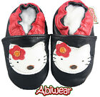 White Kitten Baby Girls Soft Soles Black Supersoft Leather Shoe Pram 0-6Mnths