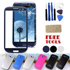 REPLACEMENT FRONT OUTER SCREEN GLASS LENS FOR SAMSUNG GALAXY S3 I9300 FREE TOOLS