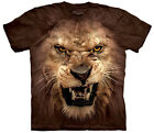 Big Face Roaring Lion  Adult Animals Unisex T Shirt Mountain