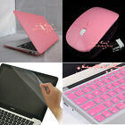 4in1 Pink Matt Rubberized Hard Case Wireless Mouse for Macbook Air 11'' 13''