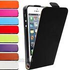 Real Genuine Leather Slim Leather Flip Case Cover For Apple iPhone 4 4G 4S