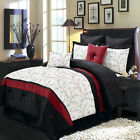 8pc Luxury Comforter Set Atlantis Ivory Bedding Set with Pillows and Shams