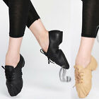 Jazz Dance Shoes Soft Genuine Leather Split Sole Lace Up Child to Adult da008