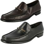 Mens SALE Loake Lifestyle Julius Leather Moccasin Slip On Shoes G Width Fitting