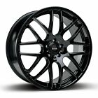 """18"""" x4 BMW Style RIVA DTM Wheels CSL E92 Style Gloss Black (ASK FOR TYRES)"""