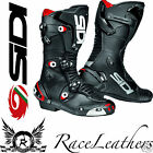 SIDI MAG 1 ONE BLACK SPORTS RACE RACING MOTORCYCLE BIKE BOOTS CLOSABLE VENTS
