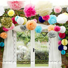 10-20 mixed colors pompoms tissue paper ball wedding decorations party pom poms