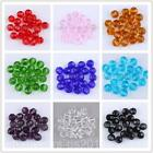 4mm 6mm 8mm Faceted Round Ball DIY Glass Crystal Seed Beads 9 Colors J0073 WUS