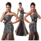 2015 Women Sweetheart Sequins Ball Gown Prom Evening Prom Bridesmaid Party Dress