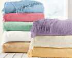 Candlewick Bedspread Luxury Traditional Bed Throw 100% Cotton Single,Double,King