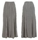 Lovely Curved Coloured Panel Maxi Long Jersey Skirt UK 10 12 14 16 18 20 22 24