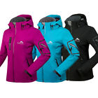 NEW Women Lady Good Waterproof Breathable Soft Shell Jacket Ski Outdoor Jacket