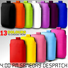 PU Leather Pull tab Pouch Case For Most Blackberry Mobile Phones