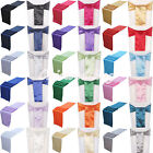 "6""x108"" Satin Chair Cover Sashes & 12""x108"" Table Runner Wedding Decor 22 Colors"