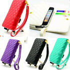 Hot Clutch Bag Wallet Leather Phone Card Case Cover Pouch Purse For iPhone5/4/4S
