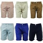 Soul Star Mens Shorts Knee Length Roll Up Fit Designer Cotton Summer Chino Pants