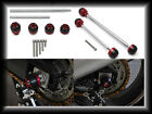 Front & Rear CNC Axle Fork Sliders Crash Protector For Ducati 1199 Panigale 2012