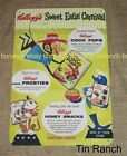 vintage KELLOGGS TIN SIGN breakfast cereal NEW advertising Coco Pops box retro