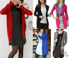 Casual Womens V-Neck Knit Long Cardigan Sweater Basic Coat Top AU SELLER T105