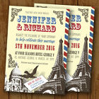 Paris / France Themed Personalised Wedding Invitations - Day or Evening