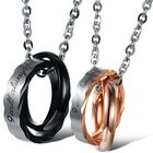 """Stainless Steel """"I Always be with you"""" Rings Couples Necklace For Valentine Gift"""