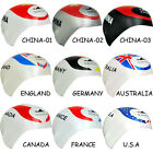 NWT YINGFA SILICON NATIONAL FLAG PRINTING SWIMMING CAP CN,GB,DE,AU,CA,FR,US NEW!