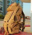 55L Men Outdoor Military Tactical Backpack Camping Hiking Trekking Bag Polyester