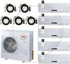 Quint 5-Zone Ductless Mini Split Air Conditioner Heat Pump, 60000 BTU ~ 5 Ton AC