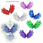 TRANSPARENT ANGEL WING #1 UNCUT PACK (16) craft crystal suncatcher scrapbooking