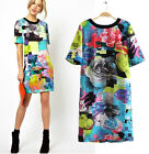 Popular Series Womens vintage floral print short sleeve slim party evening Dress