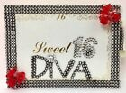 Sweet 16 Diva Guest Book with Pen Keepsake Book Party Supplies