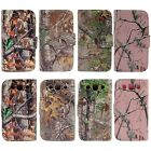 PU Leather Camo Card Holder Pouch Stand Wallet Hybrid Case For Samsung Galaxy S3