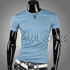 Casual Slim Fitted Trendy Sexy Men Short Sleeve Basic Tee Simple Style T-Shirts