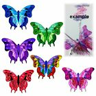 (16) UNCUT 3D TRANSPARENT  LEADLIGHT  BUTTERFLY WING #1 for crystal suncatcher