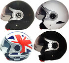 VIPER RS-V18 OPEN FACE JET MOTORCYCLE MOTORBIKE SCOOTER HELMET WITH VISOR