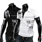 High Quality ~Muscle Mens Slim Fit POLO Shirt Short Sleeve Casual T-shirts Tee