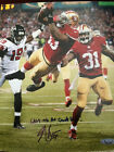 NAVORRO BOWMAN LAST TD SIGNED & INSCRIBED 8X10 PHOTO - TRISTAR AUTHENTICATED