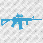 M16 AR15 RIFLE GUN TACTICAL ARMY WEAPONS SPORT VINYL DECAL STICKER (M-01)