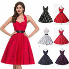 UK CHEAP~ Vintage 50's 60's Party Polka Dot Rockabilly Swing Prom Cocktail Dress