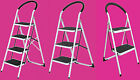 2 Tread 3 Tread Non Slip Rubber Grip Folding Step Ladder Stool Kitchen Home New