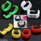2X Plastic Hoop Huggie Earring Men's Boy Fashion Ear Stud Round Circle Piercing