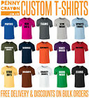 CUSTOM PERSONALISED PRINTED T-SHIRTS - STAG HEN CHARITY CLUB GYM SPORT WORK WEAR