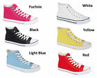 CHILDREN'S KID'S BOY GIRL LACE UP CANVAS HIGH TOP ANKLE TRAINER CASUAL SHOE