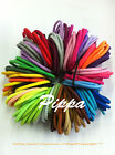 50 Quality Thick Endless Snag Free Hair Elastics Bobbles Bands Ponios Mix