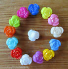 8 Novelty Buttons - Tiny Rose - 10mm - Dolls/Baby/Kid's - Knitting/Sewing/Cards