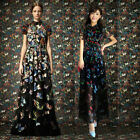 Romantic Lady Butterfly Flower MAXI Long Dress Prom Gowns Evening party Cocktail