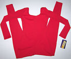 Nwt New Capezio Long Unitard Leotard Costume Long Sleeves Red Nice Cute Girl