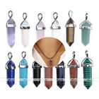 MO Natural Quartz Crystal Healing Point Chakra Cut Gemstone Pendant For Necklace