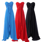 Empire Waist Long Maxi Chiffon Formal Party Evening Gown Ball Prom Pageant Dress