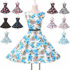 Pinup Women Clubwear 50s Evening Cocktail Party A-Line Prom Dress IN XS S M L XL